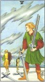Five of Swords - Minor Arcana Tarot Card
