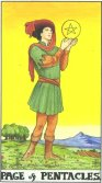 Page of Pentacles - Minor Arcana Tarot Card