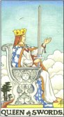 Queen of Swords - Minor Arcana Tarot Card