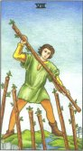 Seven of Wands - Minor Arcana Tarot Card