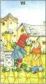 Six of Cups - Minor Arcana Tarot Card