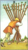ten of wands tarot card - free online reading