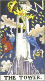 The Tower - Major Arcana Tarot Card