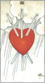 Three of Swords - Minor Arcana Tarot Card