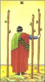 Three of Wands - Minor Arcana Tarot Card