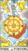 Wheel of Fortune - Major Arcana Tarot Card